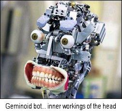 Geminoid robot guts